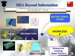 msa beyond information