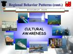 regional behavior patterns cont