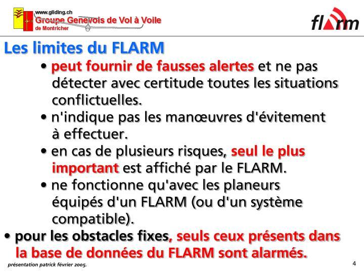 Les limites du FLARM