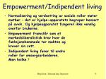 empowerment indipendent living