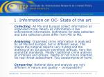 1 information on oc state of the art