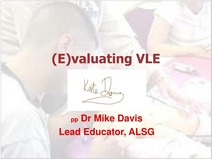 e valuating vle n.
