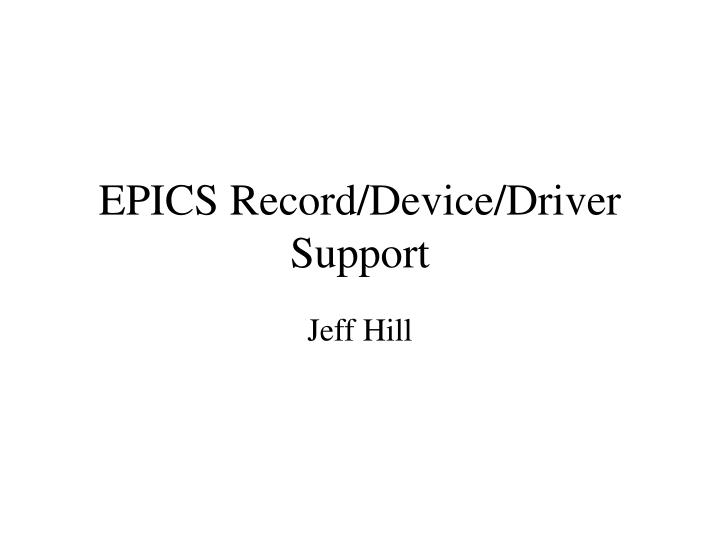 epics record device driver support n.