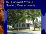 45 hunnewell avenue newton massachusetts