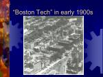 boston tech in early 1900s