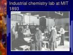 industrial chemistry lab at mit 1893