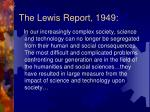 the lewis report 1949