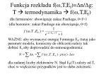 funkcja rozk adu f t e f n g t termodynamika f t e f