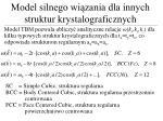 model silnego wi zania dla innych struktur krystalograficznych