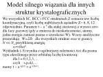 model silnego wi zania dla innych struktur krystalograficznych1
