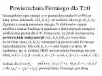 powierzchnia fermiego dla t 0