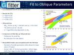 fit to oblique parameters