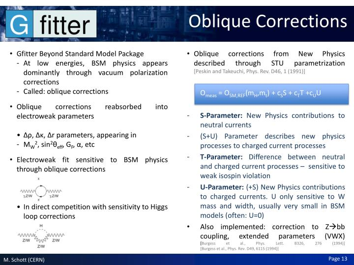 Oblique Corrections