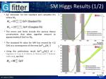 sm higgs results 1 2