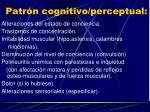 patr n cognitivo perceptual