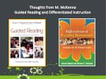 thoughts from m mckenna guided reading and differentiated instruction