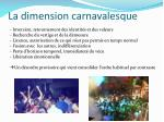 la dimension carnavalesque