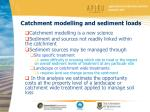 catchment modelling and sediment loads1