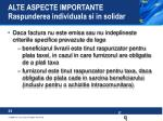 alte aspecte importante raspunderea individuala si in solidar