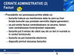 cerinte administrative 2 facturi