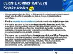 cerinte administrative 3 registre speciale