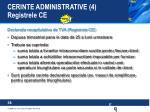 cerinte administrative 4 registrele ce