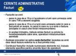 cerinte administrative facturi