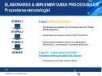 elaborarea implementarea procedurilor prezentarea metodologiei