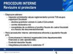proceduri interne revizuire si proiectare