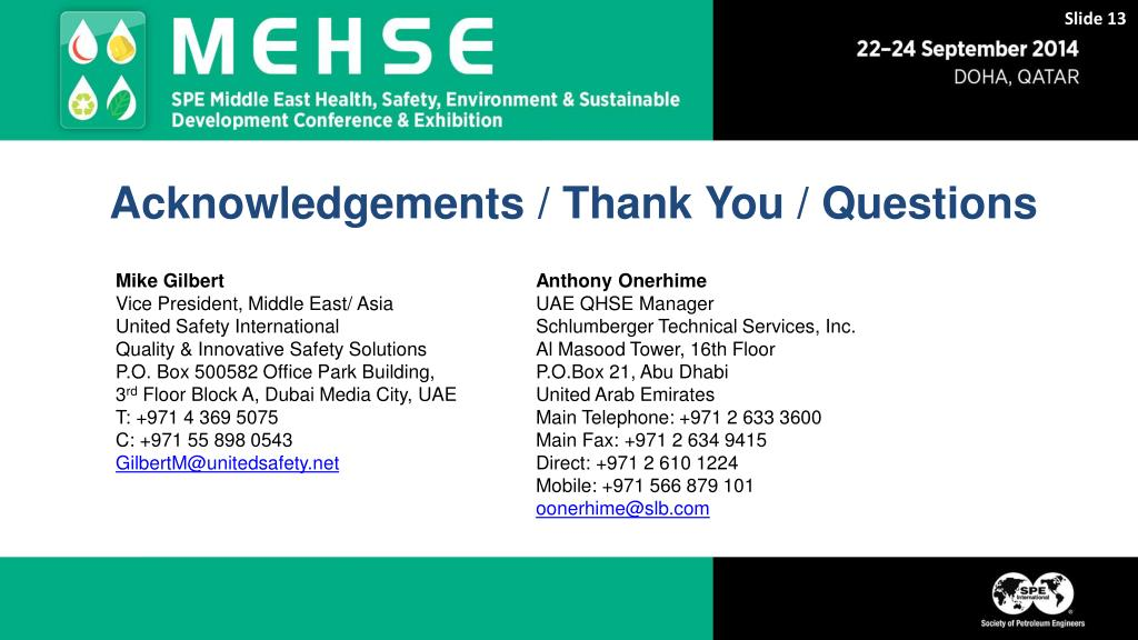 PPT - Anthony Onerhime, Schlumberger, Andy Kveps and Elie Daher