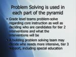 problem solving is used in each part of the pyramid