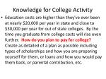 knowledge for college activity