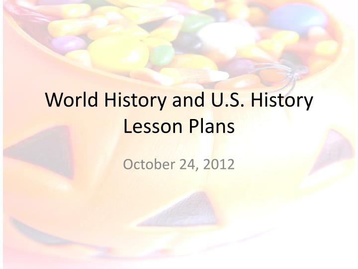 world history and u s history lesson plans n.