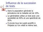 influence de la succession de tests
