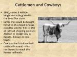 cattlemen and cowboys