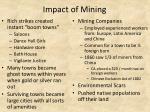 impact of mining