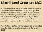 morrill land grant act 1862