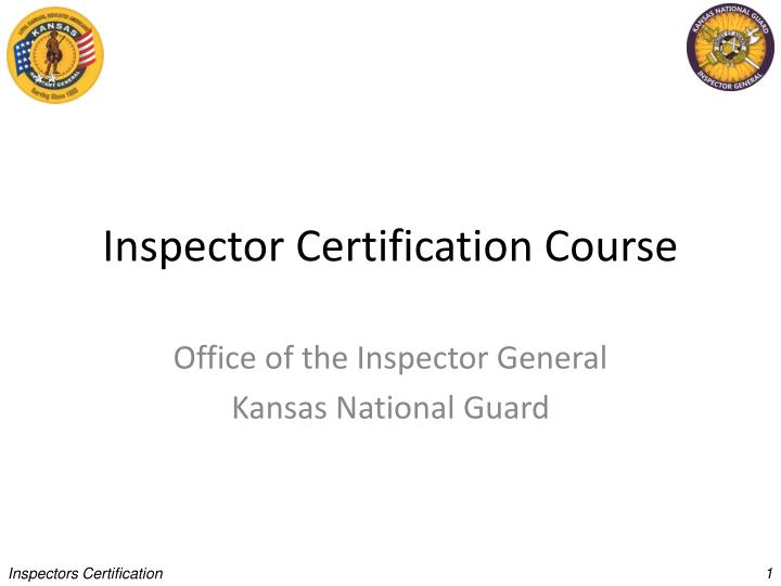inspector certification course n.