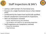 staff inspections sav s