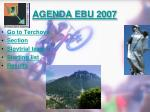 agenda ebu 2007