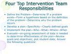 four top intervention team responsibilities