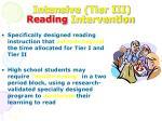 intensive tier iii reading intervention