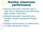 monitor classroom performance