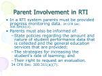 parent involvement in rti