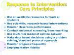 response to intervention core principles