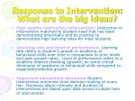 response to intervention what are the big ideas