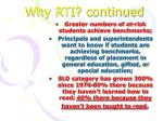 why rti continued1