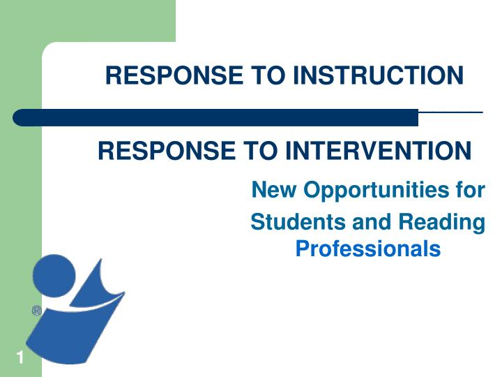 response to instruction response to intervention n.