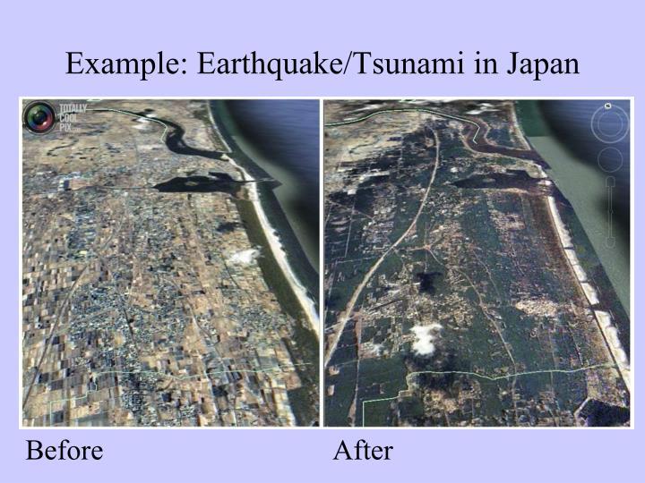 Example: Earthquake/Tsunami in Japan