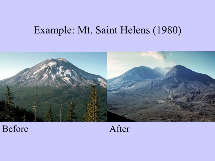 Example: Mt. Saint Helens (1980)